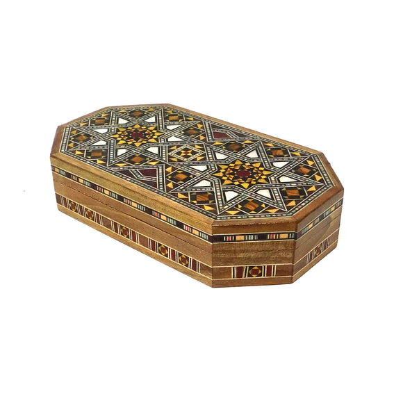 ~Oblong Mosaic & Mother Of Pearl Box - Small~{صندوق موزاييك مصدف طولاني صغير}