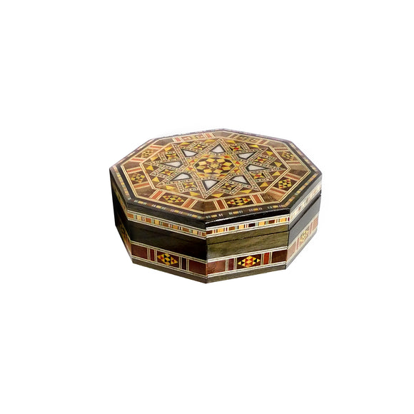 ~Octagonal Mosaic & Mother Of Pearl Box - Small~  {صندوق موزاييك مصدف مثمن صغير}