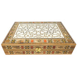 ~Mosaic & Mother Of Pearl Box Engraved w/ Arabesque~ {صندوق موزاييك مصدف محفور بنقش أرابيسك}