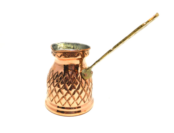 ~Hand-Hammered Brass Turkish Coffee Pot~ {ركوة قهوة نحاس أحمر}
