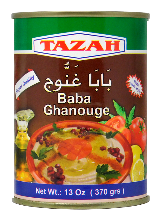 ~Tazah Baba Ghanouge Can 13oz~ {بابا غنوج سوري 370غ}