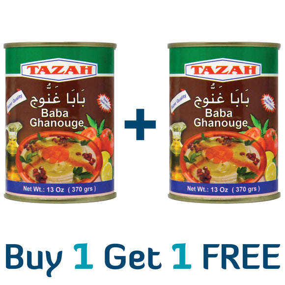 ~1+1 FREE Offer: Tazah Baba Ghanouge Can 2x13oz~ {عرض 12+1 مجاناً: بابا غنوج سوري 2×370غ}