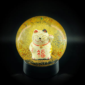 VINKEMIS / LUCKY CAT SNOW GLOBE