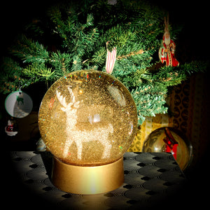 GULDHJORT / GOLD DEER SNOW GLOBE