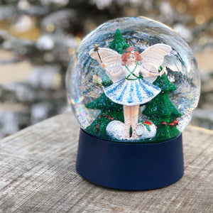 BLÅ JULEFE / FAIRY OF CHRISTMAS SNOW GLOBE