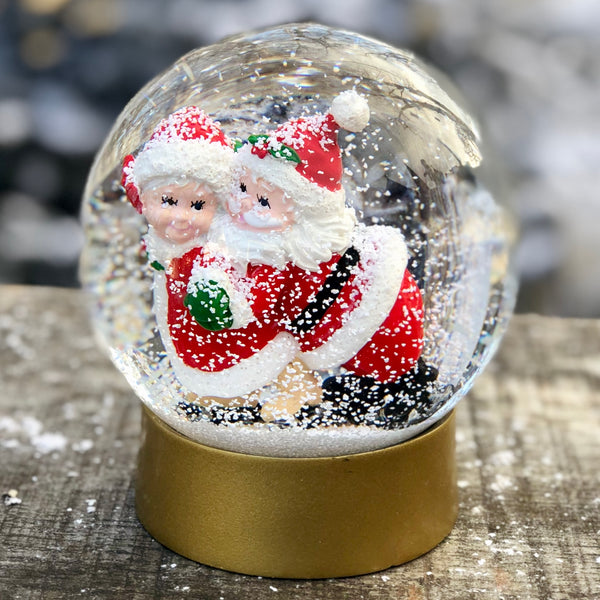 MR & MRS SANTA SNOW GLOBE