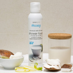 Shower mousse leche de coco y lima