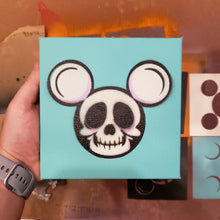 "Load image into Gallery viewer, SKULL MICKEY Head - 6 "" x 6"" in CANVAS"