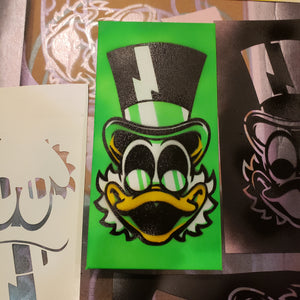 "Cheapskate Duck painting- 6"" X 12"" CANVAS"