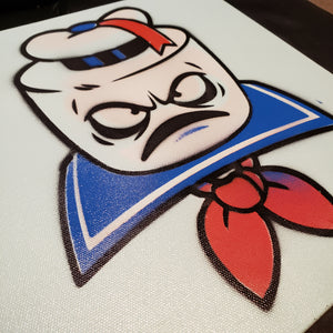 "STAY PUFT painting- 12"" X 12"" CANVAS"