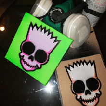 "Load image into Gallery viewer, BART SKULL Head - 6 "" x 6"" in CANVAS"