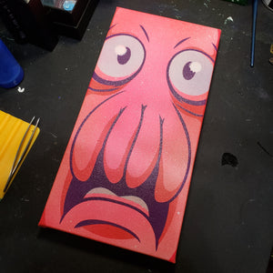 "Dr. Zoidberg head- 6"" X 12"" CANVAS"