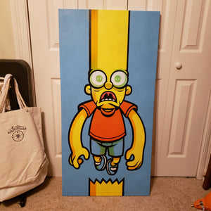 "In Over Your Head Bart - 24"" W X 48"" H CANVAS"