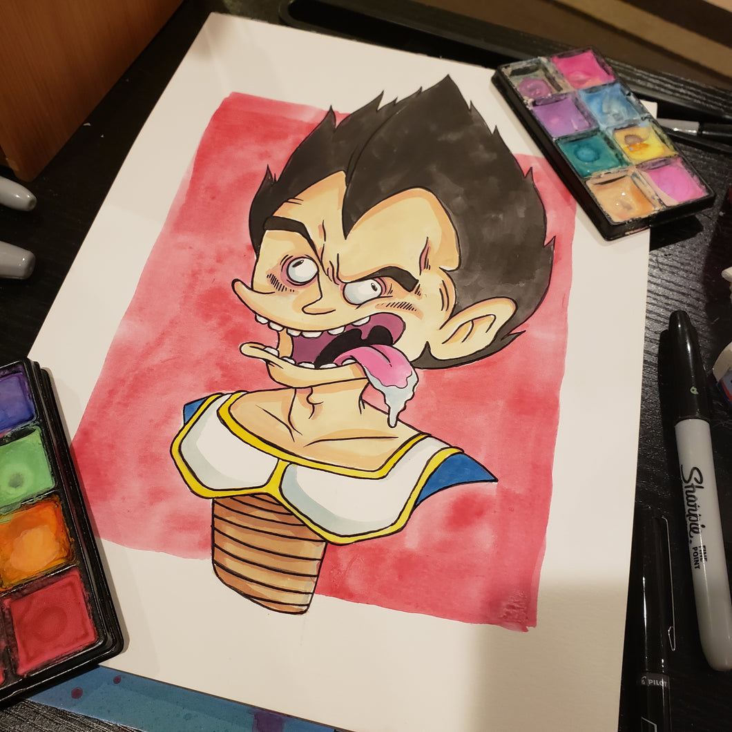 Vegetaaaaa 9 in. X 12 in. WATERCOLOR painting