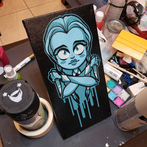 "WEDNESDAY ADAMS - 6"" X 12"" CANVAS"