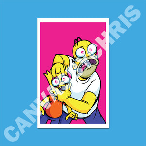 "Limited edition Bart and Homer's THROUGH THE EYES OF YOUR SON - 11"" x 17"" PRINT"