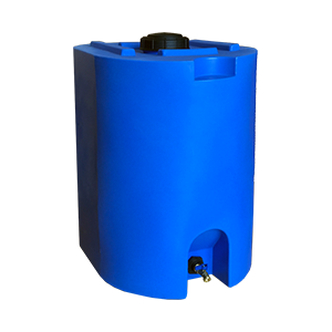 Blue 55 Gallon Water Storage Tank