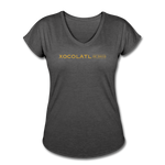 Women's Logo V-Neck T-Shirt - deep heather