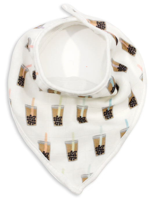 Boba Bubble Tea Muslin Bandana Bib