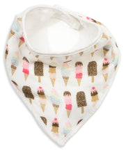 Load image into Gallery viewer, Ice Cream Muslin Bandana Bib - Shop Tiffany Wong Design