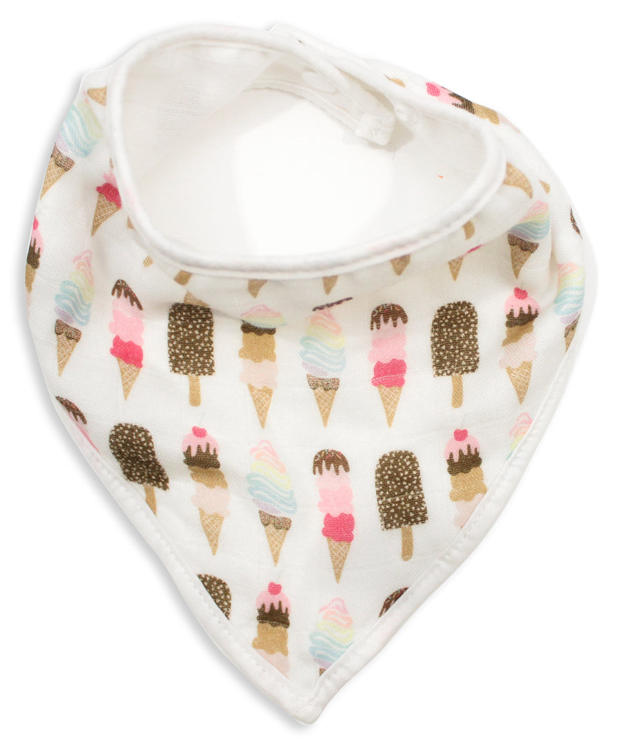 Ice Cream Muslin Bandana Bib - Shop Tiffany Wong Design