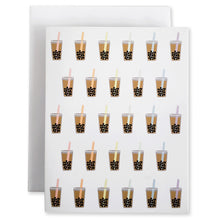 Load image into Gallery viewer, Boba Bubble Tea 5Pk Notecards - Shop Tiffany Wong Design