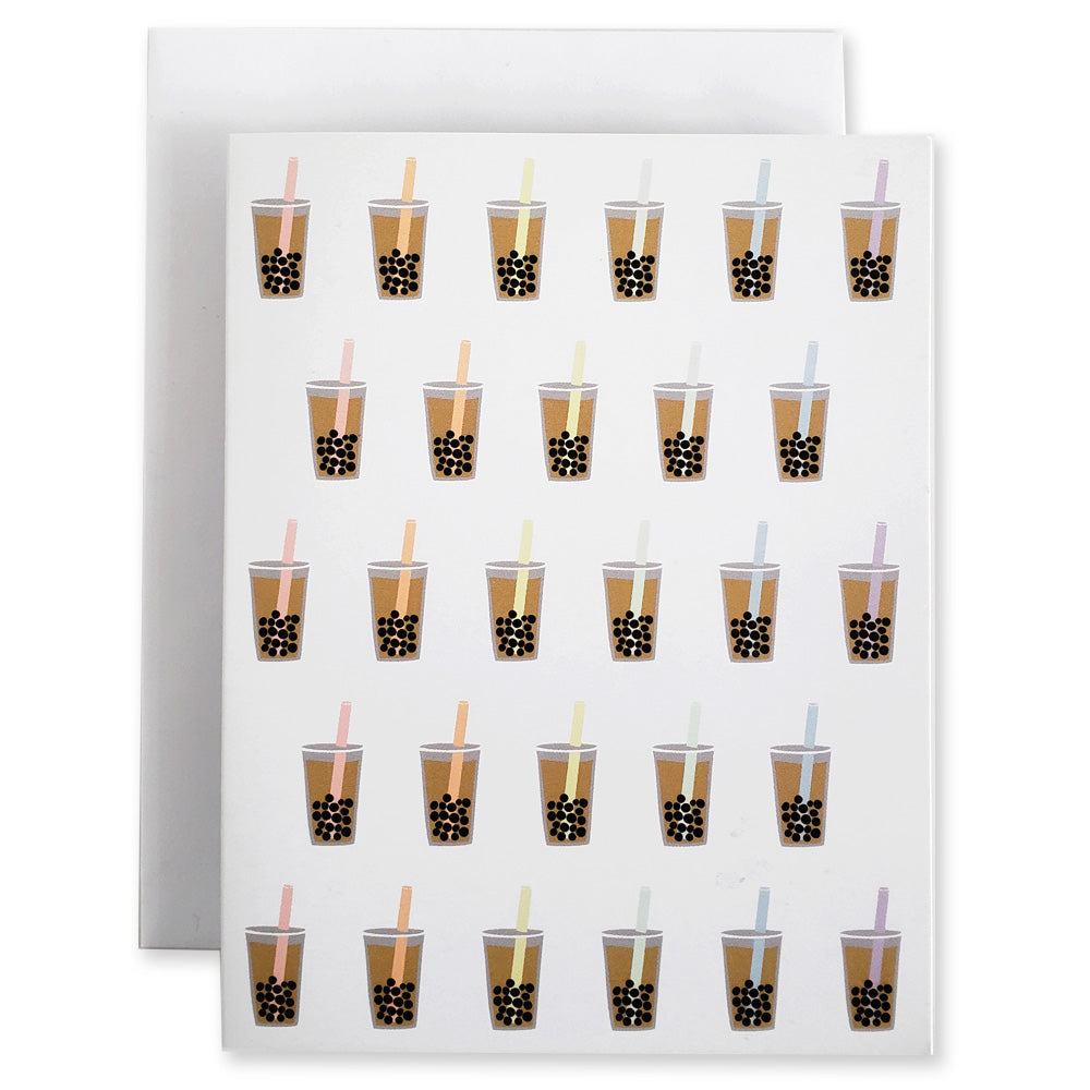 Boba Bubble Tea 5Pk Notecards - Shop Tiffany Wong Design