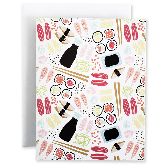 Sushi 5Pk Notecards - Shop Tiffany Wong Design