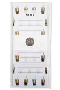 Boba Bubble Tea Notepad - Shop Tiffany Wong Design