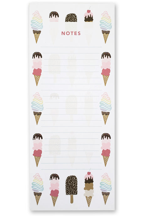 Ice Cream Notepad - Maylay Co.