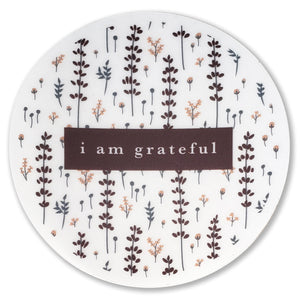 "Lovely Lavender 3"" Clear Gratitude Sticker - Maylay Co."