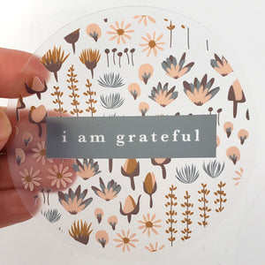 "Sweetness 3"" Clear Gratitude Sticker - Maylay Co."