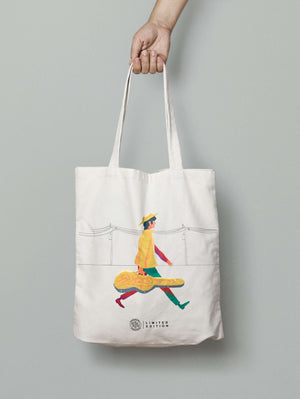 GUITARRA TOTE BAG - BLACK - YKOKOHA