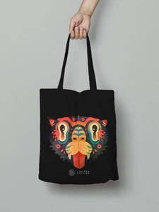TIGER TOTE BAG - BLACK - YKOKOHA