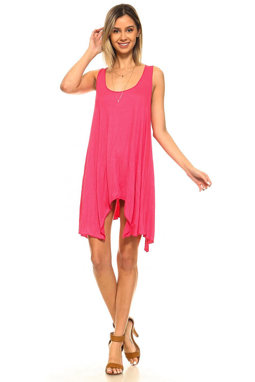 Coral Swing Dress - 2