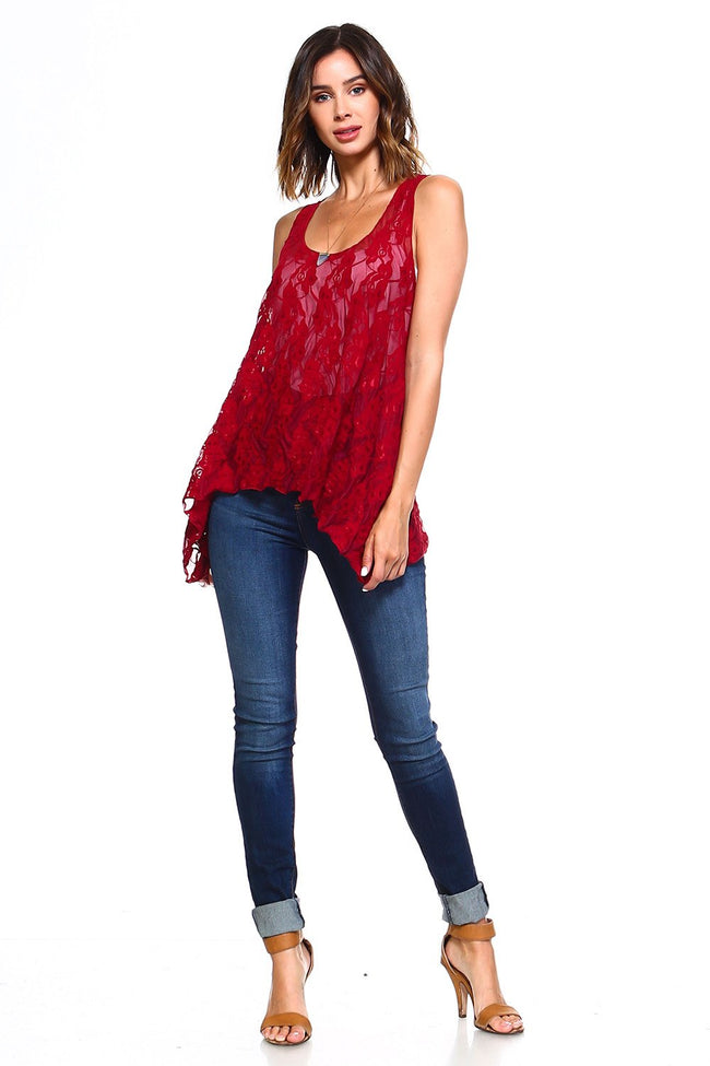 Burgundy Lace Swing Tunic - Simplicitie - 2