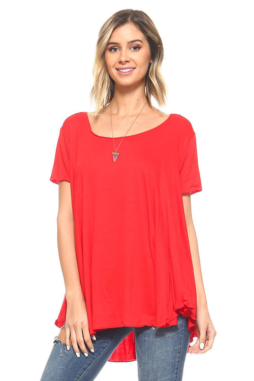 Red Flowy Tunic - 1