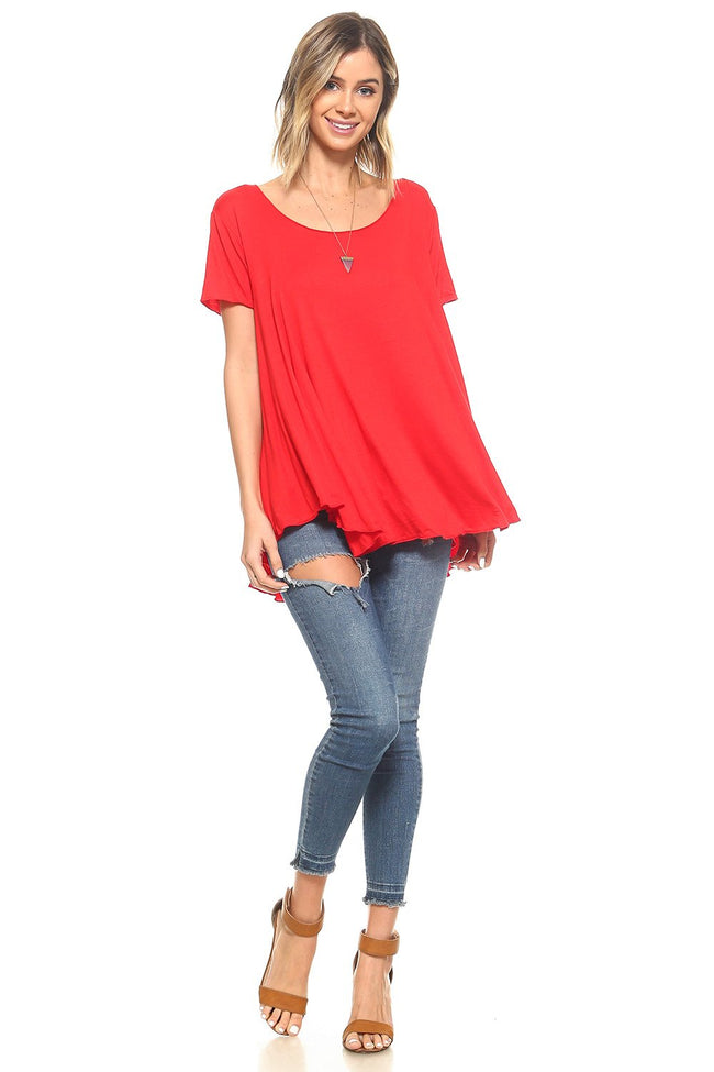 Red Flowy Tunic - 2