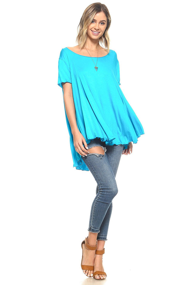 Turquoise Flowy Tunic - 2