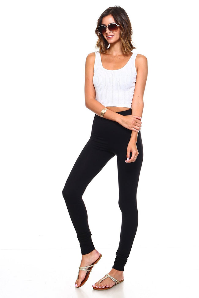 Black High Waisted Leggings - Simplicitie - 2