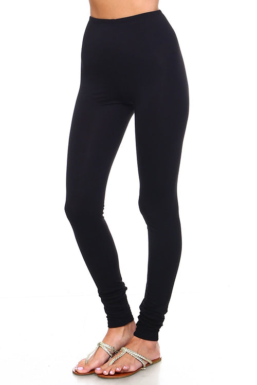 Black High Waisted Leggings - Simplicitie - 1