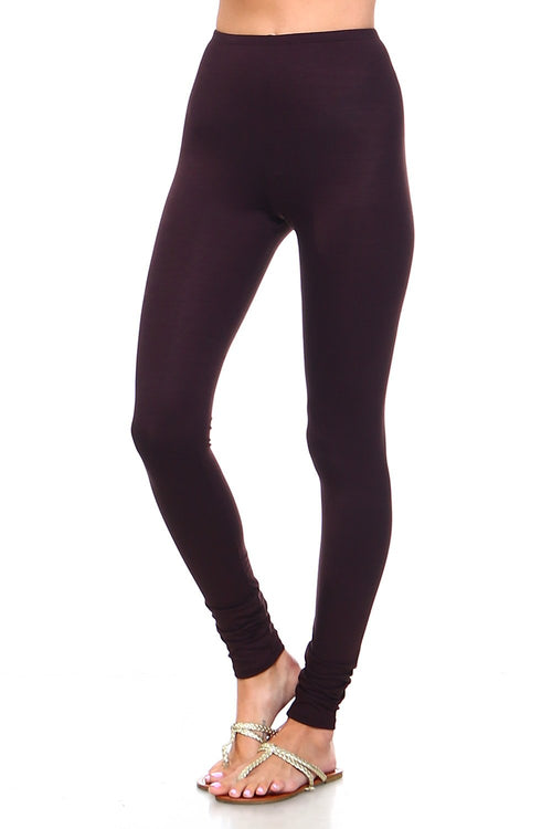 Brown High Waisted Leggings - Simplicitie - 1