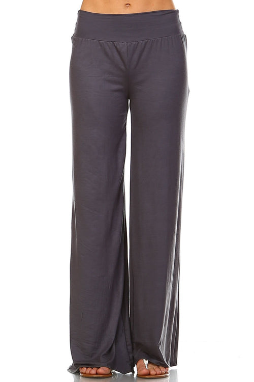 Grey Palazzo Pants - Apparel Threads - 1