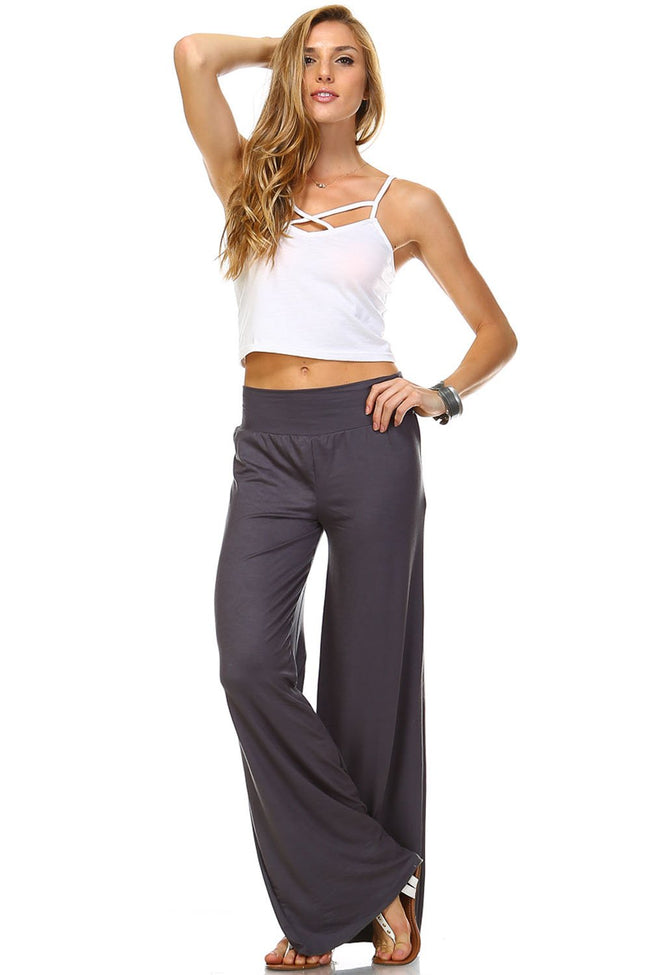 Grey Palazzo Pants - Apparel Threads - 4