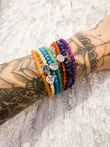 Chakra Balancing Stretchy Gemstone Bracelet Set
