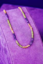 Load image into Gallery viewer, Mardi Gras Gemstone Necklace - Preorder