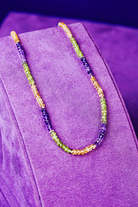 Mardi Gras Gemstone Necklace - Preorder