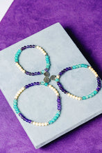 Load image into Gallery viewer, Mardi Gras Gemstone Stretchy Bracelet - Preorder