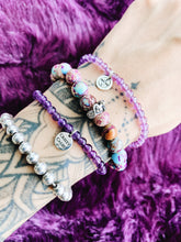 Load image into Gallery viewer, Crown Chakra Amethyst Stretchy Bracelet
