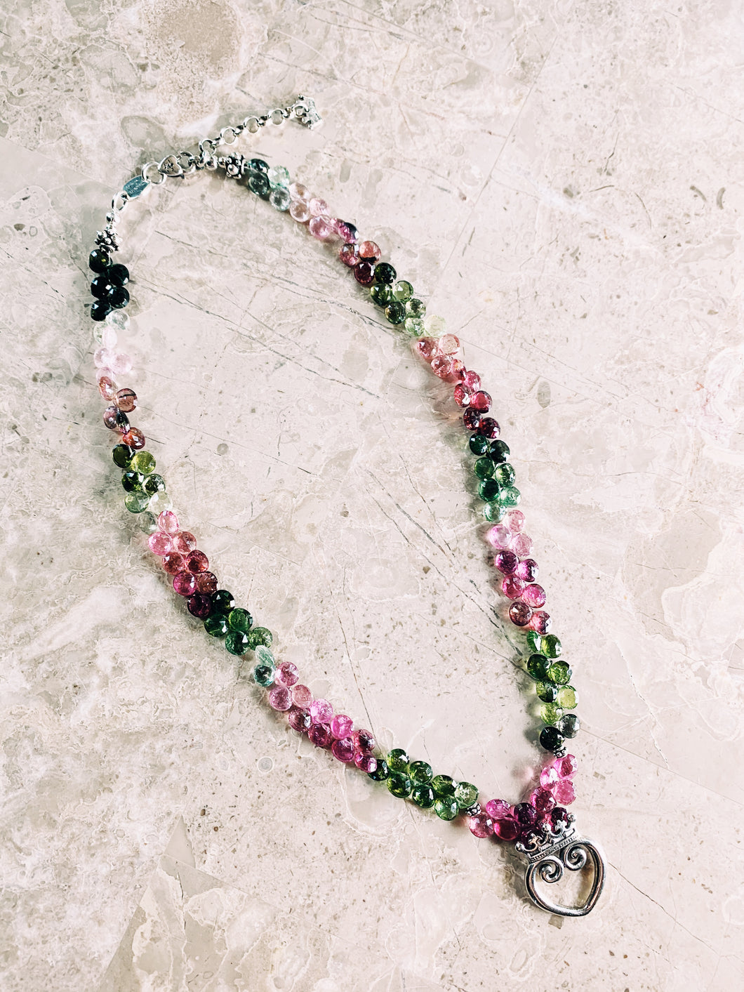 Queen of Hearts Chakra Harmony Watermelon Tourmaline Necklace
